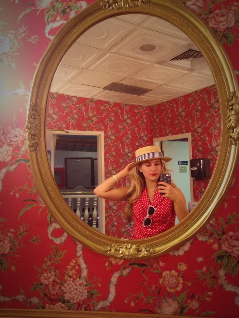 parlor mirror shot