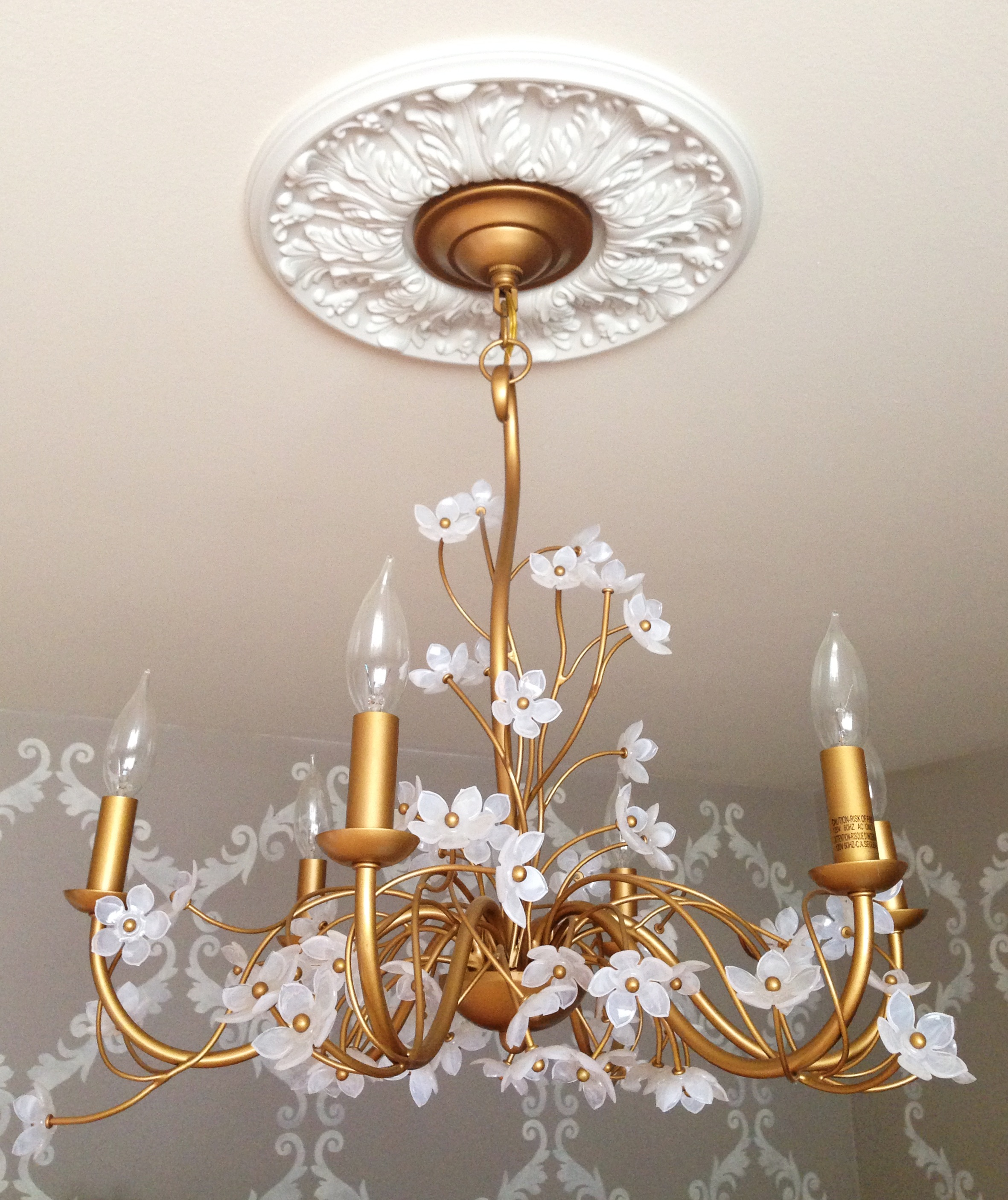 shown seashell chandelier medallion white mariericci com pin solid in