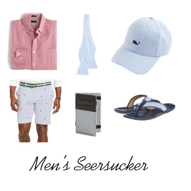 men's seersucker