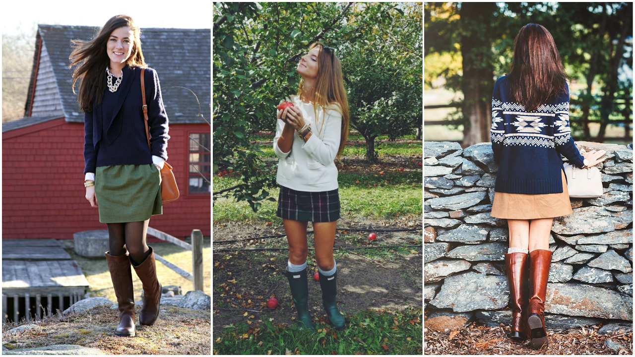 skirts and boots