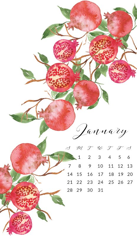 Free-2018-January-wallpaper-phone