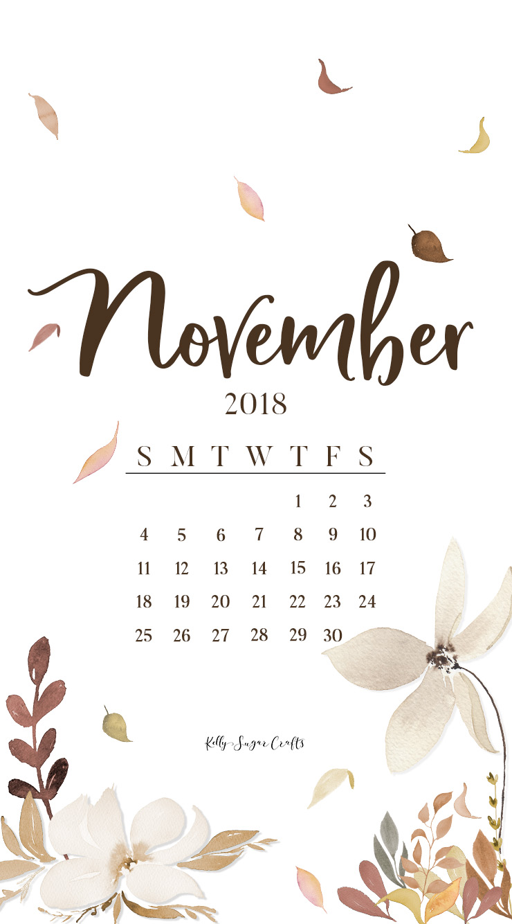 November-2018-Calendar-Phone-Wallpaper-KellySugarCrafts